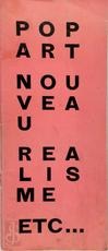Pop Art, Nouveau Realisme etc...