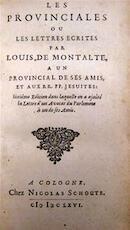 Les Provinciales, ou Lettres Ecrites par Louis de Montalte a un Provincial de ses Amis, Et aux RR.PP. Jesuites. - Blaise [pascal]