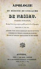 Apologie ou Défense de Guillaume de Nassau, Prince d'Orange, - Unknown