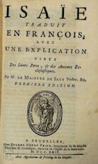 Isaïe - Louis-Isaac Lemaistre de Sacy