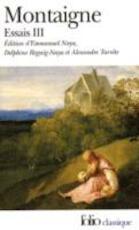 Les essais - T3 - Michel de Montaigne (ISBN 9782070423835)