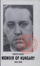 Memoir of Hungary, 1944-1948 - Sándor Márai (ISBN 9789631339024)