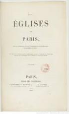Les églises de Paris - Jean Baptiste Étienne Pascal