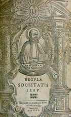 Regulae Societatis Iesu [bound with] Canones congregationum generalium societatis Jesu