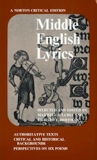 Middle English lyrics - Maxwell Luria, Richard Lester Hoffman (ISBN 9780393093384)