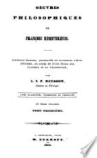 Oeuvres philosophiques - François Hemsterhuis, Louis Susan Pedro Meyboom