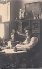 Felix Timmermans in werkkamer - originele foto - Bernard JANSSENS