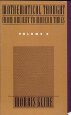 Mathematical Thought from Ancient to Modern Times: - Morris Kline (ISBN 9780195061369)