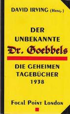 Der Unbekannte Dr. Goebbels - Joseph Goebbels (ISBN 9781872197111)
