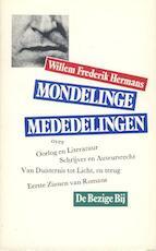 Mondelinge mededelingen - Willem Frederik Hermans (ISBN 9789023430278)
