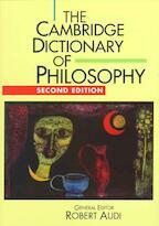 The Cambridge Dictionary of Philosophy - Robert Audi (ISBN 9780521637220)