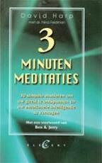 Drie minuten meditaties - David Harp, Nina Feldman, Parma van Loon (ISBN 9789056890414)