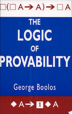 The Logic of Provability - George Boolos (ISBN 9780521483254)