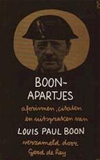 Boon apartjes - Louis Paul Boon, Gerd de Ley (ISBN 9789022914441)