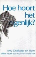 Hoe hoort het eigenlijk? - A. Groskamp-ten Have, M. Krans (ISBN 9789023004486)