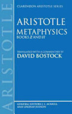 Aristotle: Metaphysics - David Bostock (ISBN 9780198239475)