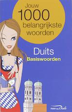 Van Dale Taalgids / Duits Basiswoorden - Unknown (ISBN 9789066489325)