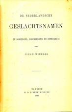 Nederlandsche Geslachtsnamen - Johan Winkler