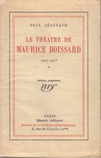 Le théatre de Maurice Boissard - Paul Léautaud