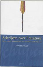 Schrijven over literatuur - Geert Lernout (ISBN 9789033442773)