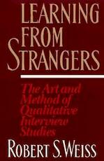 Learning from Strangers - Robert S. Weiss (ISBN 9780684823126)