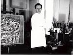 Pierre Alechinsky dans son atelier Paris 1954 [3] - RIEMENS, Henny