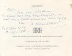 Adriaan ROLAND-HOLST aan Jac. VAN HATTUM – Handgeschreven bedankkaartje - ROLAND-HOLST, Adriaan
