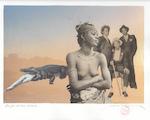 Patrick Conrad - 'La fin d'une époque' - Originele collage - CONRAD, Patrick