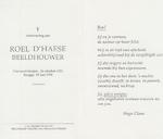 Overlijdensbericht - Roel D'Haese