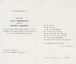 Rouwprent Marieke Timmermans - Janssens - TIMMERMANS, Felix