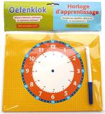 Oefenklok met uitwisbare stift / Horloge d'apprentissage avec feutre effaçable - ZNU (ISBN 9789044750386)