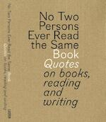 No two persons ever read the same book - Gert Dooreman, Bart Van Aken (ISBN 9789460581519)