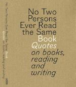 No two persons ever read the same book - Gert Dooreman, Bart Van Aken (ISBN 9789460581519)