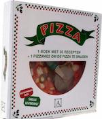 Pizza doos - Boek met pizzasnijder