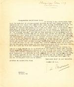 J. C. BLOEM - Gesigneerde, getypte brief - Bloem, Jacques C.