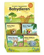 Display vingerpopboekjes baby dieren 4Tx4E (ISBN 9789463330510)