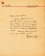 Marnix Gijsen - Handgeschreven brief 30 november 1932 - GIJSEN, Marnix