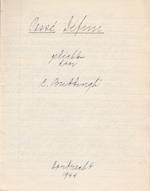 Cees BUDDINGH' – Passé Défini. Gedichten - Origineel handschrift - BUDDINGH', Cees