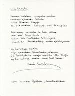 René Turkry - [vier gedichten] handschrift - TURKRY, René