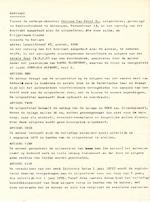 Origineel contract 'Joeplala alfabet' - Karel Elleveest - KRIJGELMANS, Claude C.