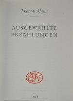 Ausgewählte Erzählungen - Thomas Mann