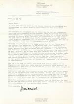 Jeroen BROUWERS - gesigneerde brief aan Eddy van Vliet - 1972