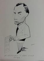 Jan Vanriet - 'De grondwet is geen vodje papier!' - originele tekening - VANRIET, Jan