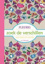 Fleurig, zoek de verschillen kleurboek voor volwassenen