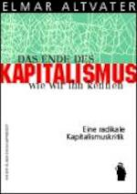 Das Ende des Kapitalismus, wie wir ihn kennen - Elmar Altvater (ISBN 9783896916273)