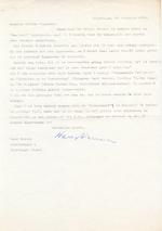 Hans WARREN aan Willem M. ROGGEMAN. 2 getypte gesigneerde brieven - WARREN, Hans