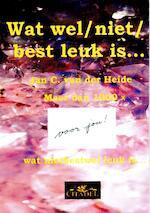 Wat wel/ niet/ best leuk is... - Jan C. van der Heide (ISBN 9789065861009)