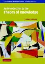 An introduction to the theory of knowledge - N. Lemos (ISBN 9780521603096)