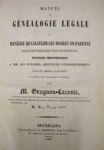 Manuel de Généalogie Légale