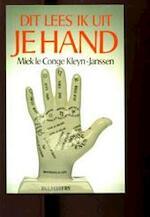 Dit lees ik uit je hand - Miek le Conge Kleijn-janssen (ISBN 9789060571958)